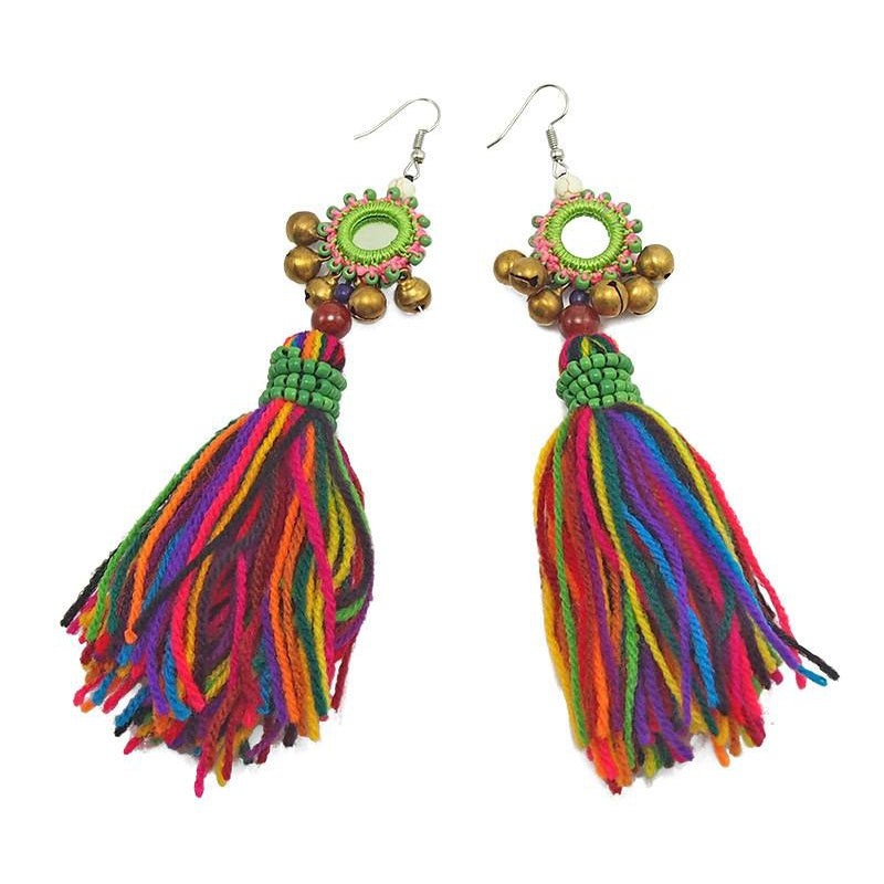 Hilltribe Chrocheted Earrings, S