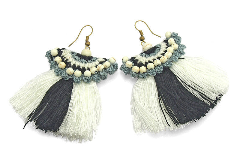 Hilltribe Chrocheted Earrings, W
