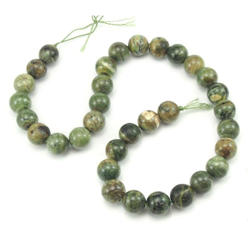 Green Opal Smooth Rounds 12mm Strand