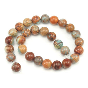 Opal African Smooth 14mm Rounds Red Matrix