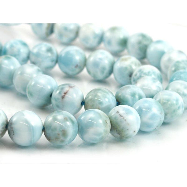 Larimar Smooth Rounds 10mm Strand