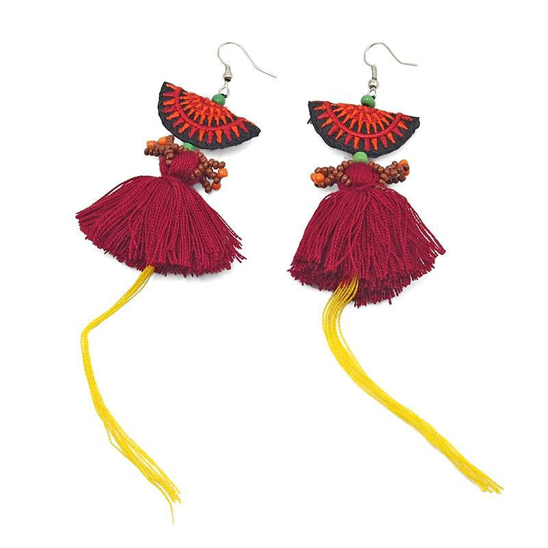 Hilltribe Chrocheted Earrings, AA