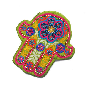 Embroidered Hamsa Coin Purse 3