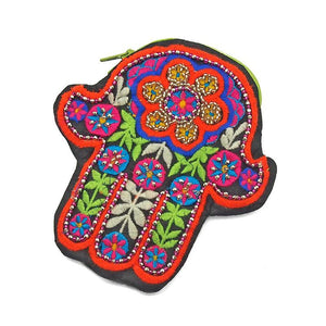 Embroidered Hamsa Coin Purse 2