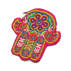 Embroidered Hamsa Coin Purse 1