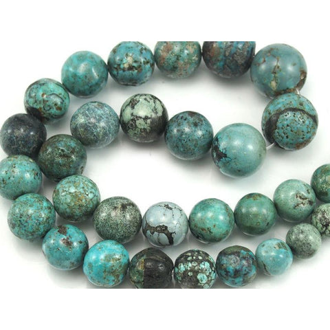 Turquoise (Chinese) Smooth Graduated Rounds 10-15mm Strand