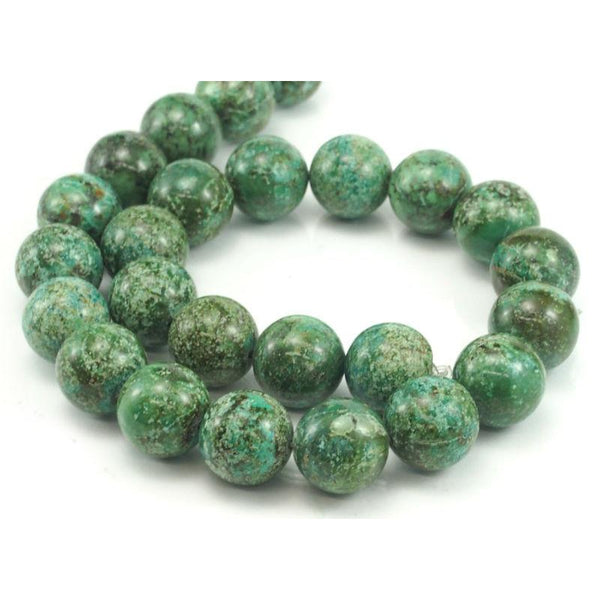 African Turquoise Smooth Rounds 16mm