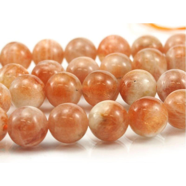 Sunstone Smooth Rounds 10mm Strand