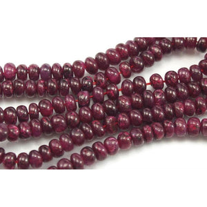Ruby Smooth Rondelles 4mm Strand