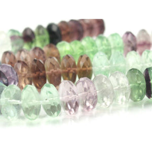 Fluorite Faceted Rondelles 12mm