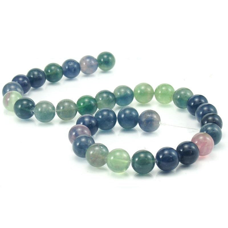 Rainbow Fluorite Rounds 12mm