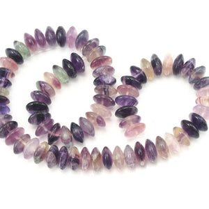 Fluorite Purple Saucer Shape 12mm Strand