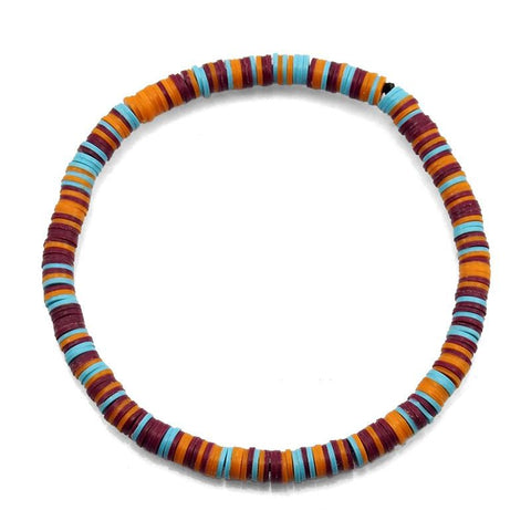 Celluloid Disc Beads Stretch Bracelet 11