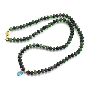 Ruby Zoisite Necklace With Gold Filled Trigger Clasp