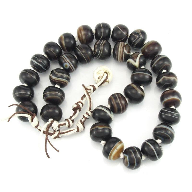 """Goat Eye"" Suleiman Agate Beads"