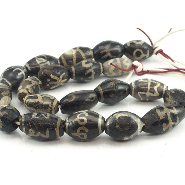 Tibetan Banded Agate Beads