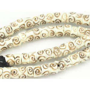 Hand-Carved Cow Bone Beads 1