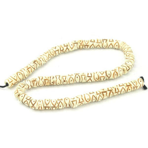 Hand-Carved Cow Bone Beads 2