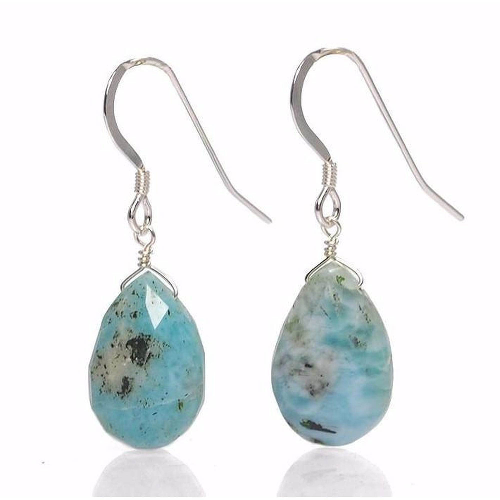 larimar collections esthers products pear drop sky earrings blue beauty