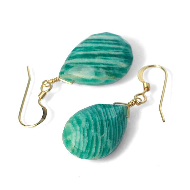 Amazonite Earrings with Gold Filled French Ear Wires
