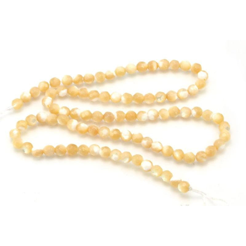 Mother of Pearl Faceted Rounds 4mm