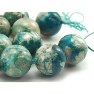 Chrysocolla Fine Rounds 12-14mm Strand