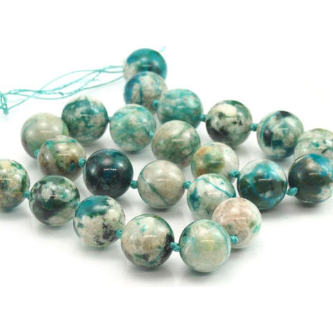 Chrysocolla Fine Rounds 12-14mm
