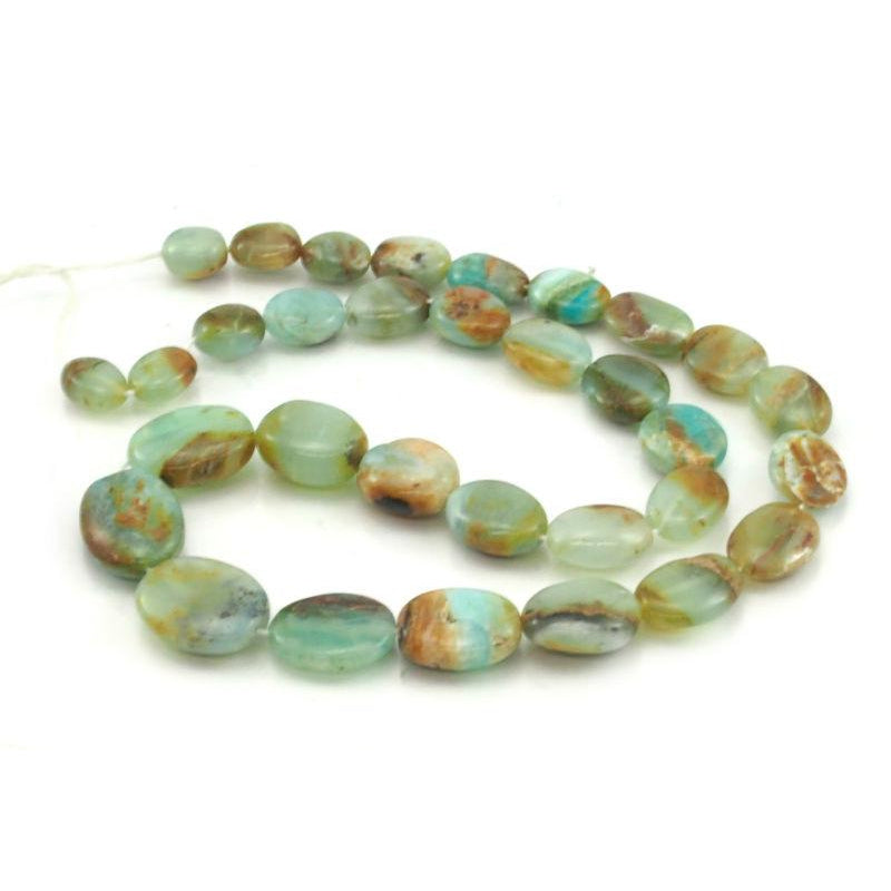 Opal Graduated Smooth Ovals Strand