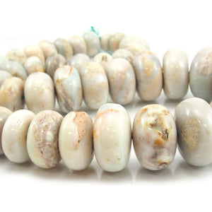 Natural Opal Graduated Smooth Rondelle Strand