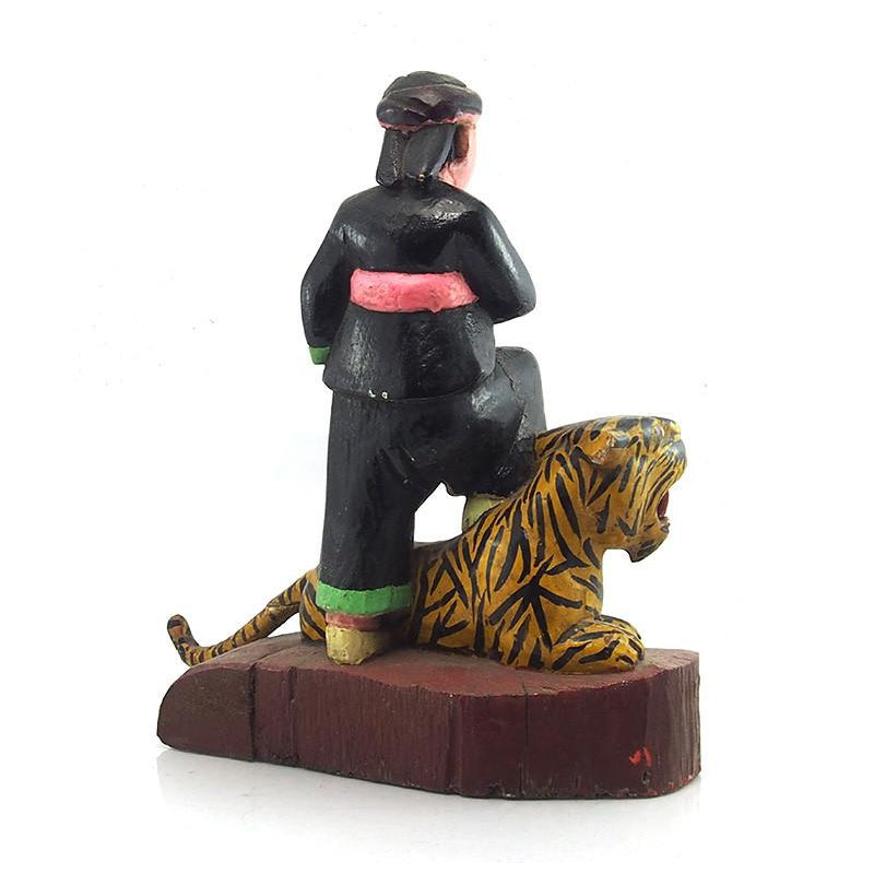 Thailand Warrior Tiger Figure Ca 1950