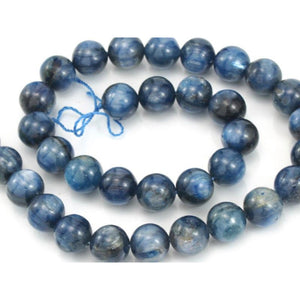 Kyanite Smooth Round 12mm Strand