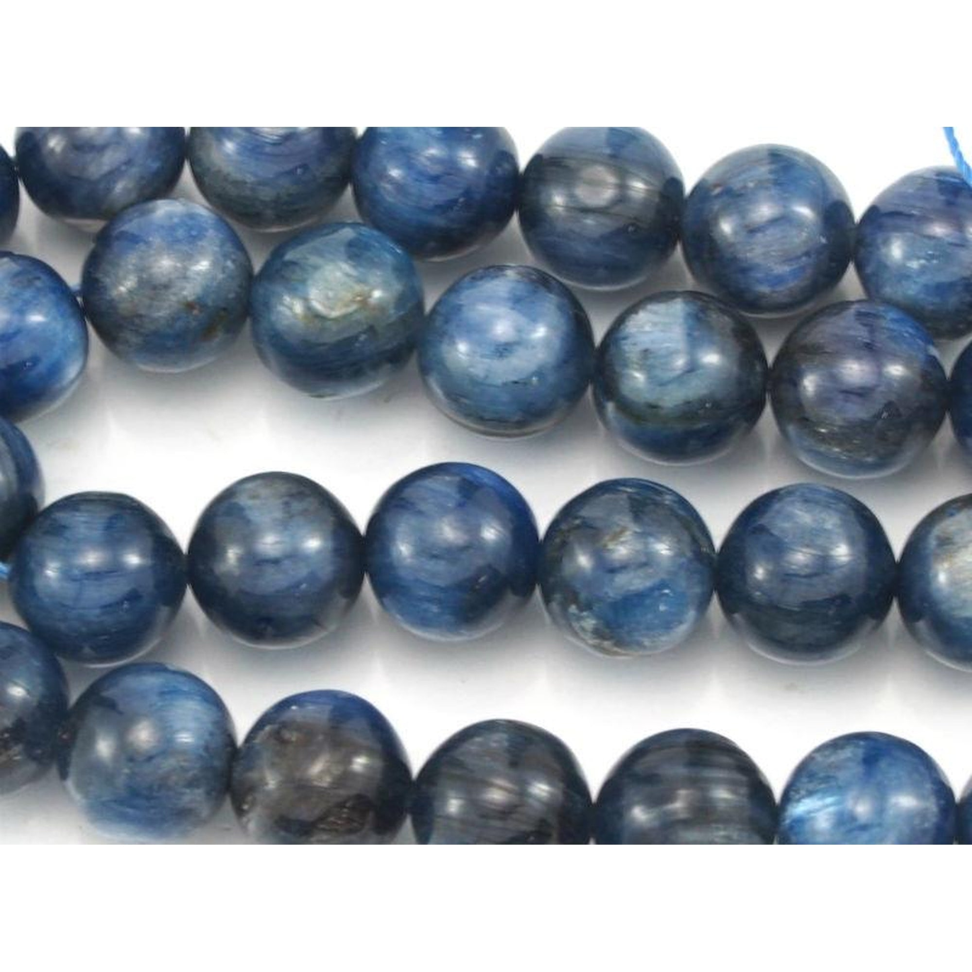Deep Blue Moroccan Pottery Beads Rectangle 5mm Morocco African Clay Handmade