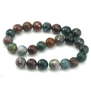 Bloodstone Faceted Rounds 16mm Strand