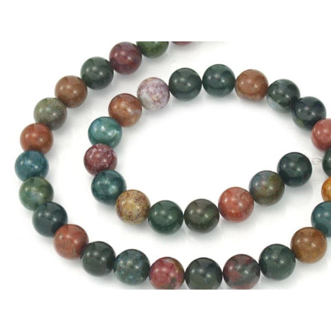 Bloodstone Smooth Rounds 10mm Strand