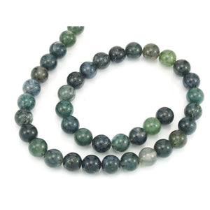 Moss Agate Smooth Rounds 10mm