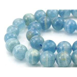 Blue Calcite Smooth Rounds 12mm