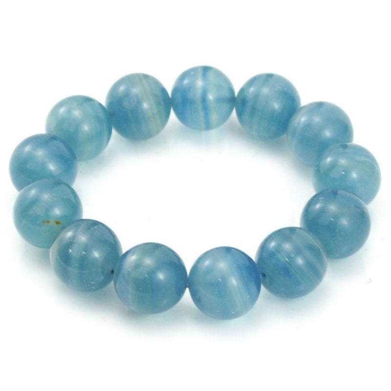 Blue Calcite Stretch Bracelet 16mm