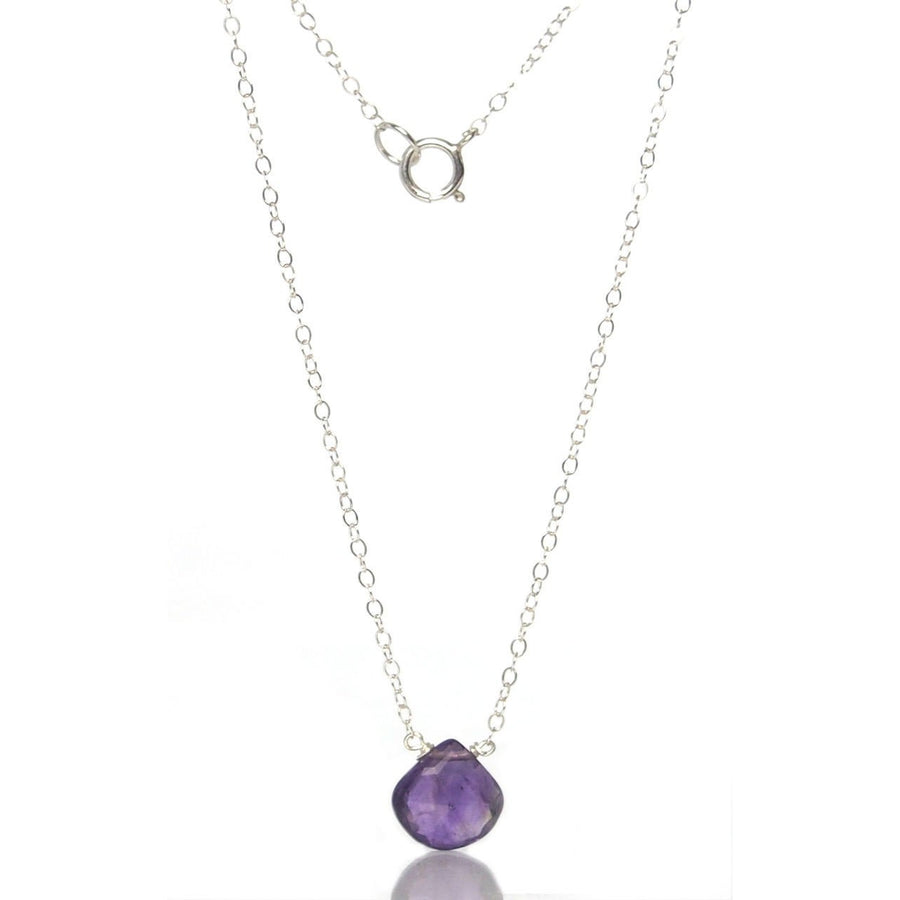 Amethyst Necklace with Sterling Silver Spring Clasp