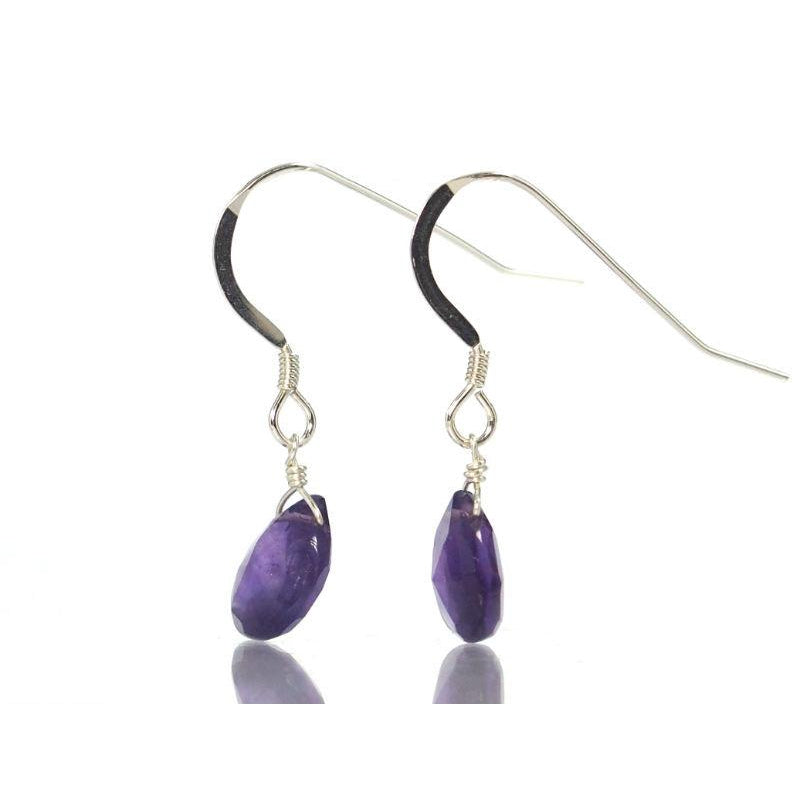 Amethyst Earrings with Sterling Silver French Ear Wire