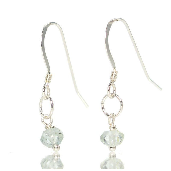 Aquamarine Earrings with Sterling Silver French Ear Wire