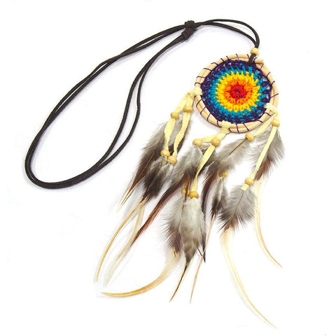 Dreamcatcher Necklace With Suede Cord 2