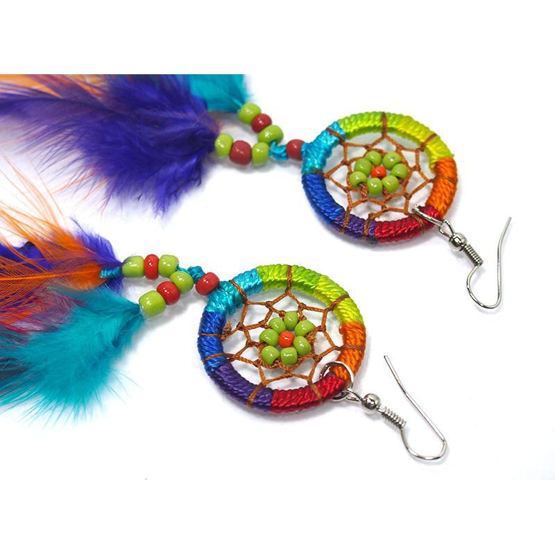 Rainbow Dreamcatcher Earrings