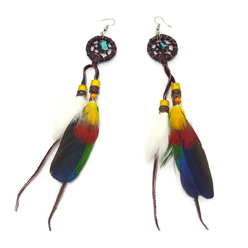 Dreamcatcher/Feather Earrings