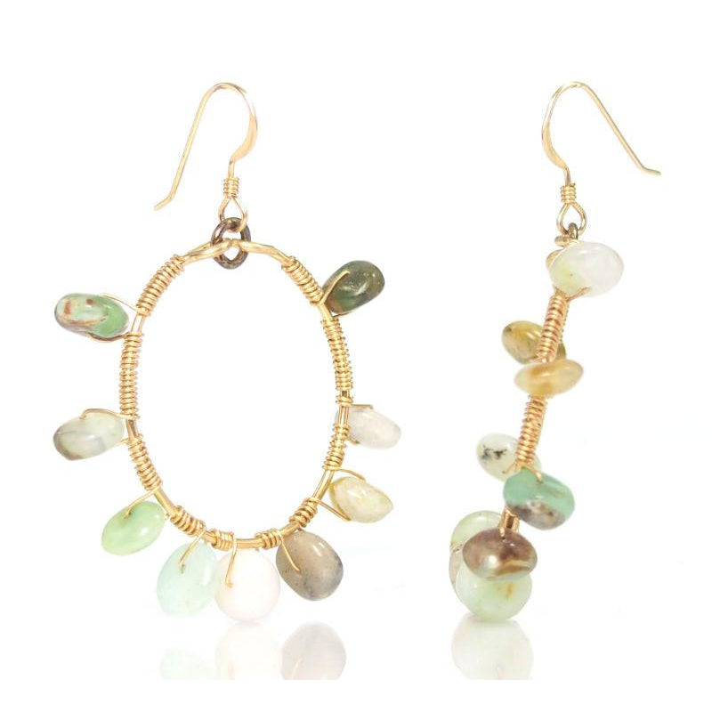 Opal Earrings with Gold Filled French Wire