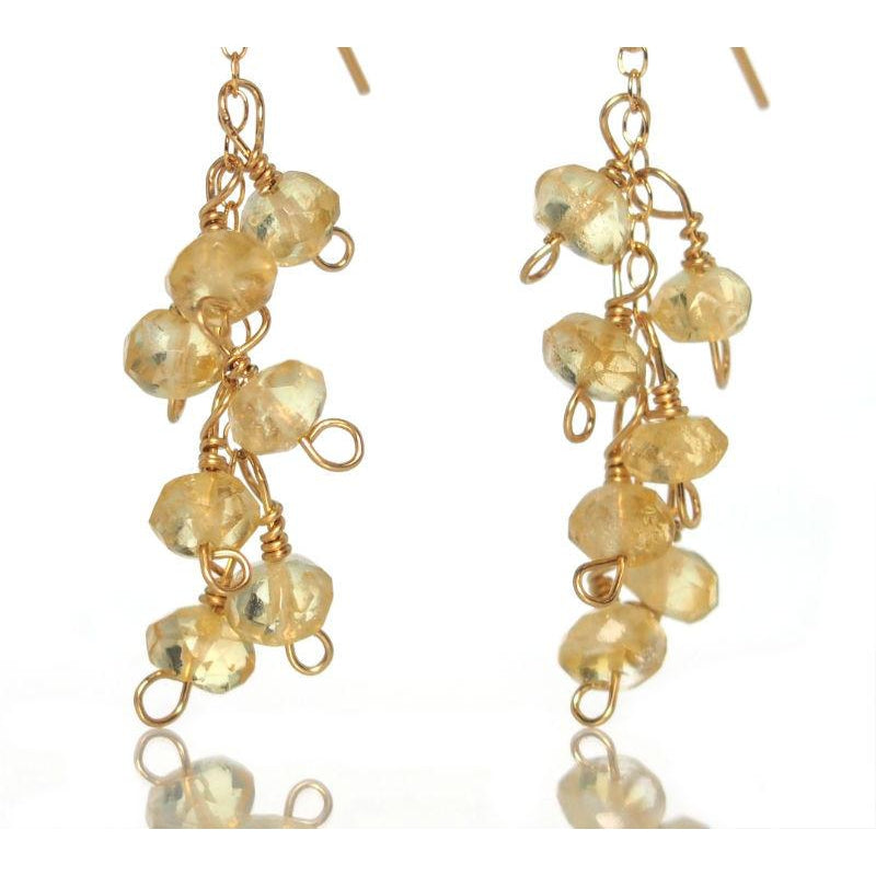 Citrine Earrings with Gold Filled French Ear Wires