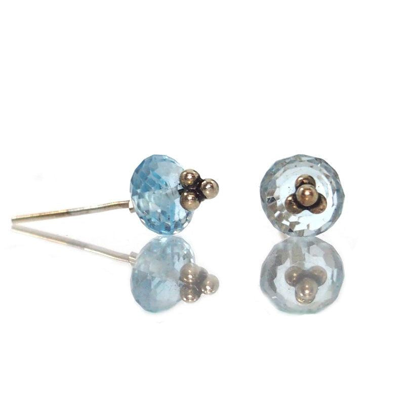Blue Topaz Earrings with Sterling Silver Post Ear Wires