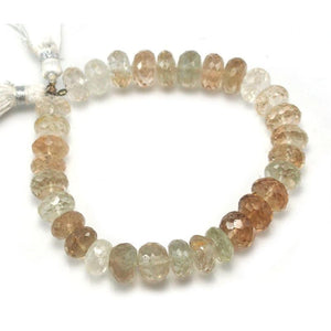 Imperial Topaz Faceted Rondelles 10mm Strand