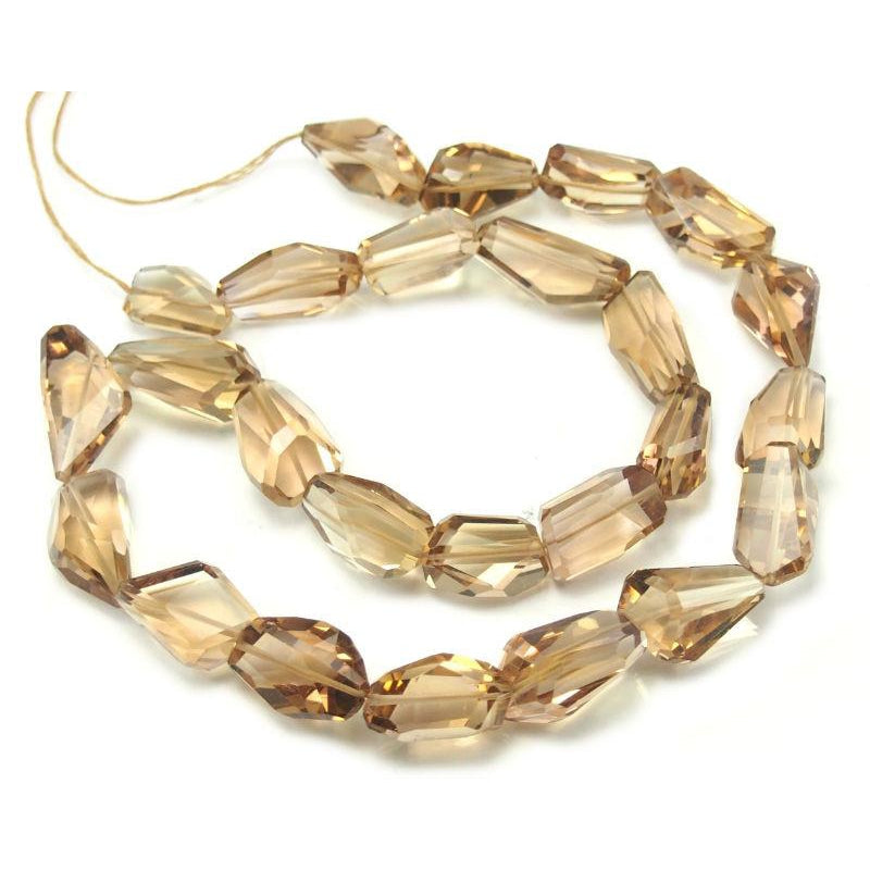 Topaz Faceted Nuggets Strand