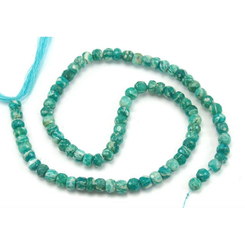 Amazonite Faceted Rondelles 6mm Strand