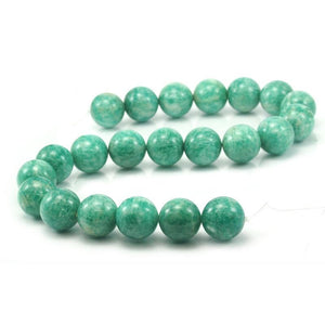 Brazilian Amazonite Smooth Rounds 18mm Strand